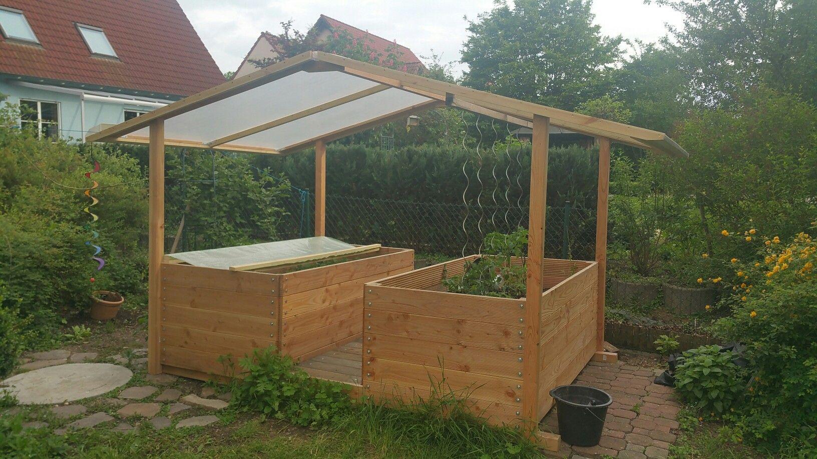 Hochbeet Mit Dach Hochbeet Garten Pflanzen Garten