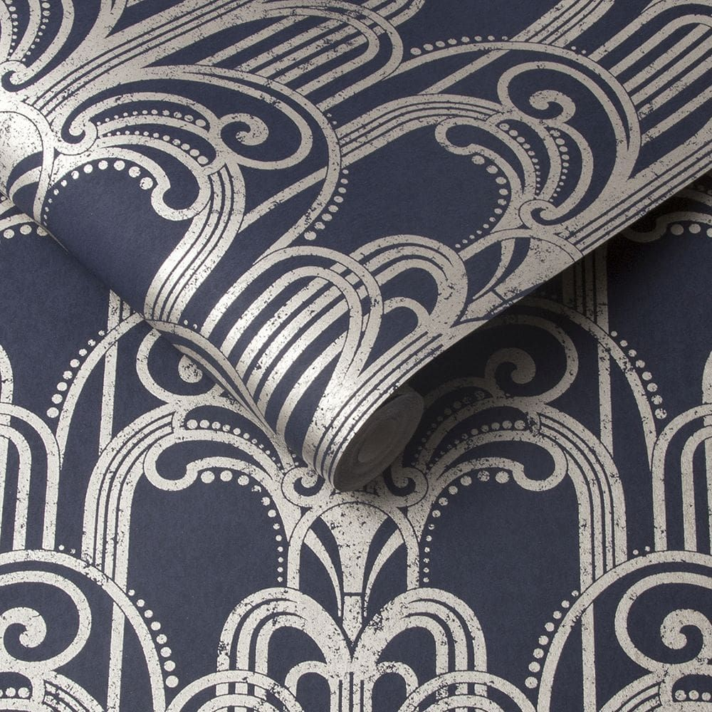 Art Deco by Graham & Brown Midnight Wallpaper 105920