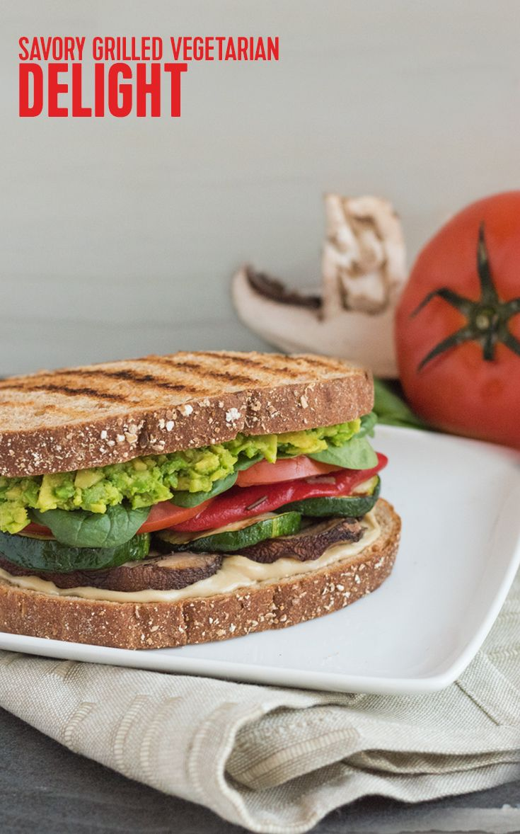 Savory Grilled Vegan Delight Sandwich