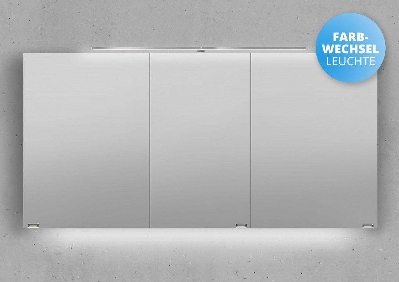 Spiegelschrank 140 Cm Led Beleuchtung Mit Farbwechsel Doppelseitig Verspiegelt Spiegelschrank Led Beleuchtung Spiegelschranke Furs Bad
