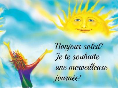 Bonjour soleil! #amaporte | Images du matin, Bonjour soleil, Bonjour