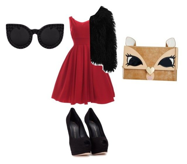 """""""Untitled #326"""" by sandrafinn on Polyvore featuring Dry Lake, Giuseppe Zanotti and Betsey Johnson"""