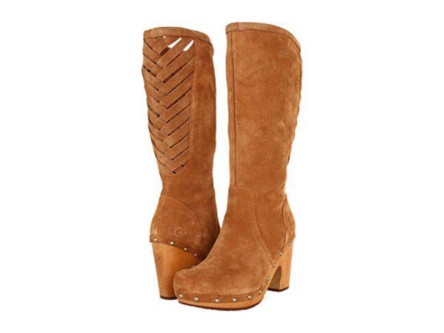 UGG Australia Womens Rumer Boots NEW Size 7 Dark Chestnut Suede $295