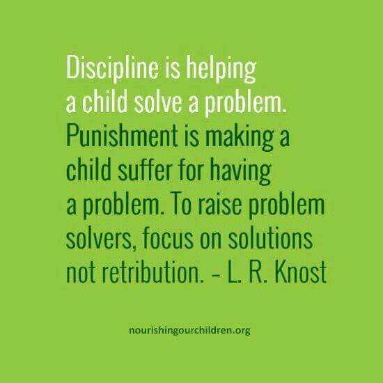Discipline not punishment