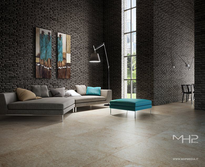 3D rendering Interior Design Soggiorno 2, MHP Media