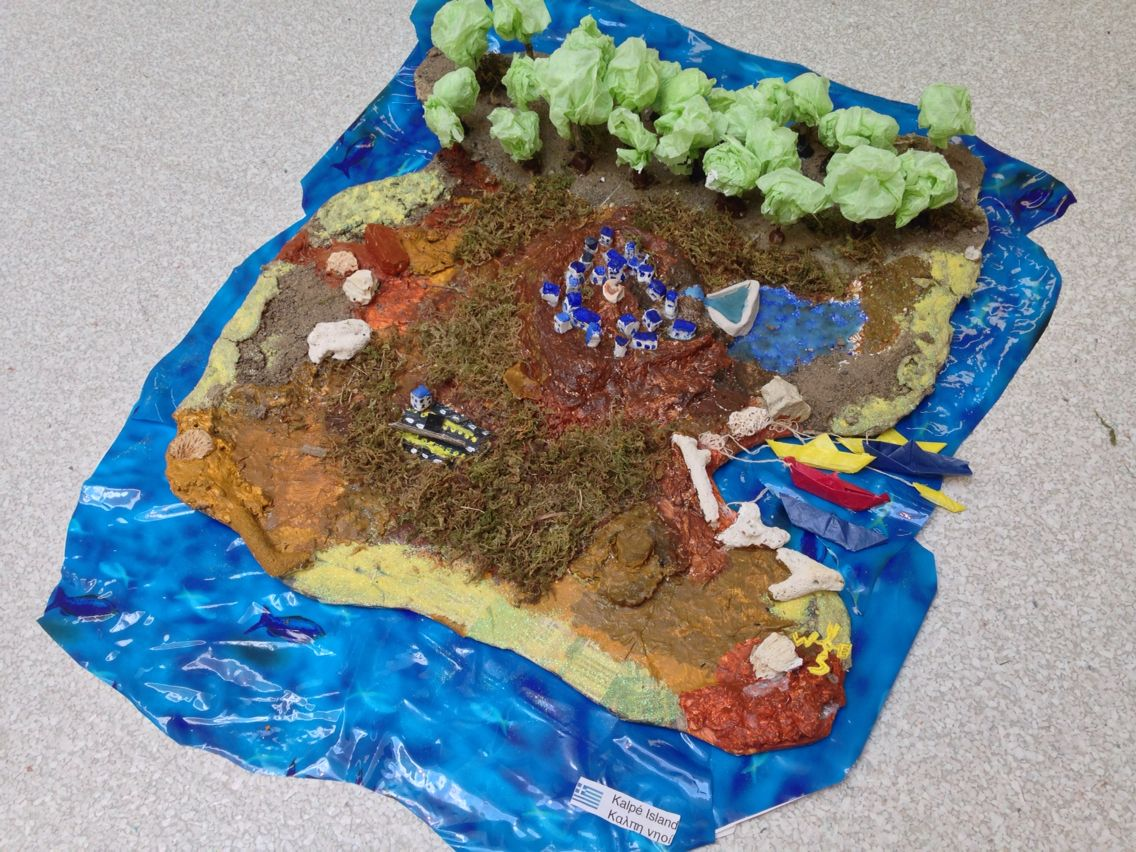 Create your own 3d island gr 7 geography materials for Papier mache rocks