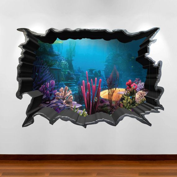 Finding Nemo Aquarium 3D Wall Art Sticker Decal Boy Girl Bedroom Wall  Stickers WSD80. Finding Nemo Aquarium 3D Wall Art Sticker Decal Boy Girl Bedroom