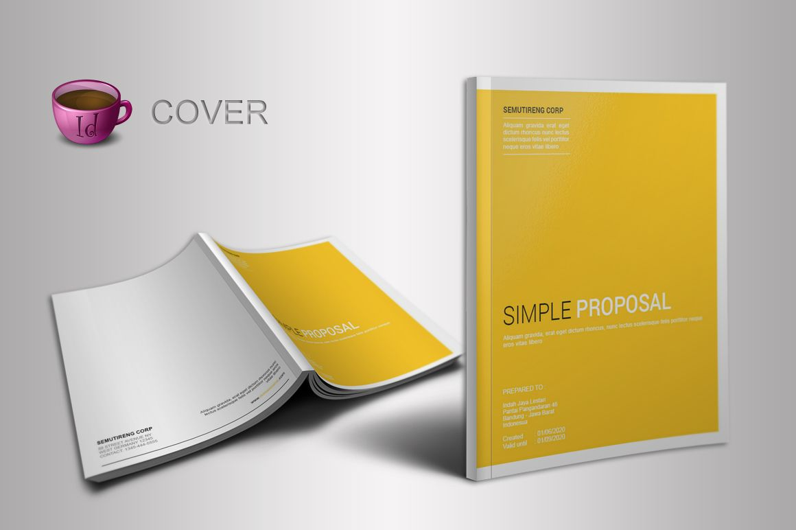 indesign proposal template creative proposals and templates