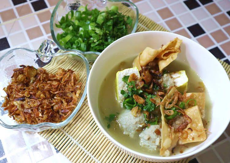 Resep Bakso Malang Komplit Oleh Dapur Adis Resep Bakso Resep Dapur