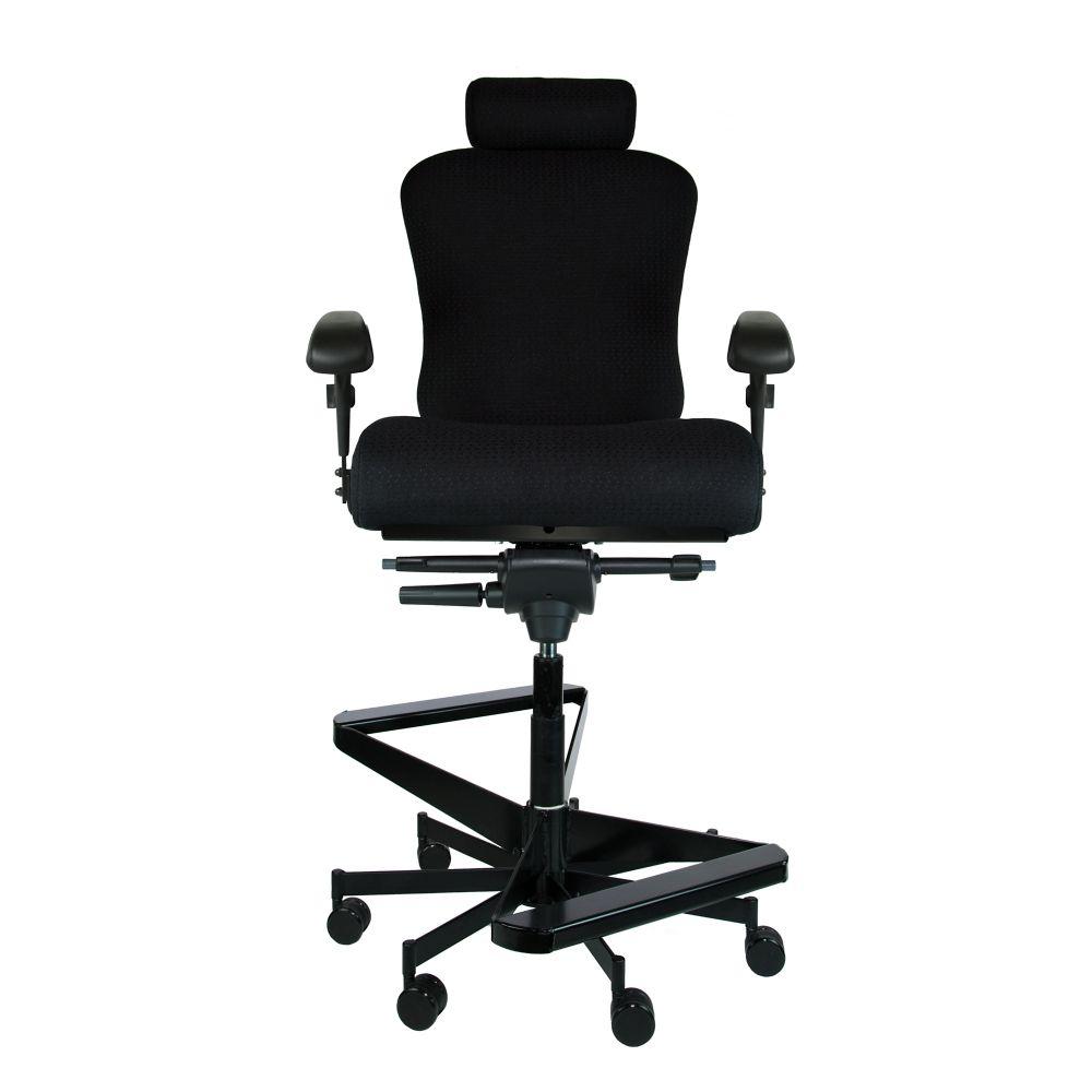 Dauerhaft 247 twostep fabric stool with headrest 23w