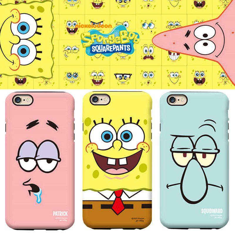 2016 New arrive Best Friend SpongeBob Patrick hard pc Phone