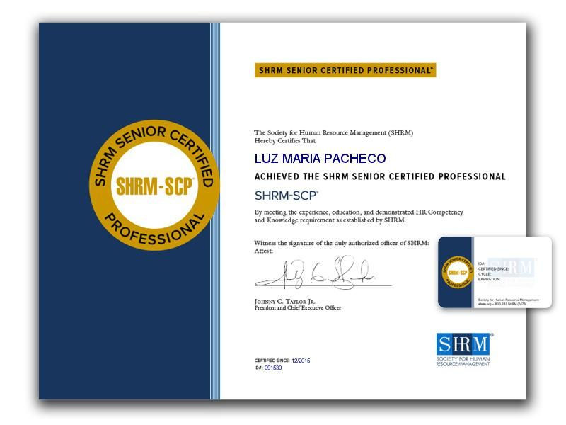 Shrm Scp Certification Resource Management Scp Education