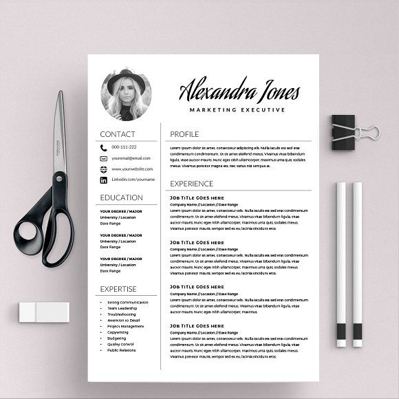 Resume Template  Free Cover Letter By Kingdom Of Design On