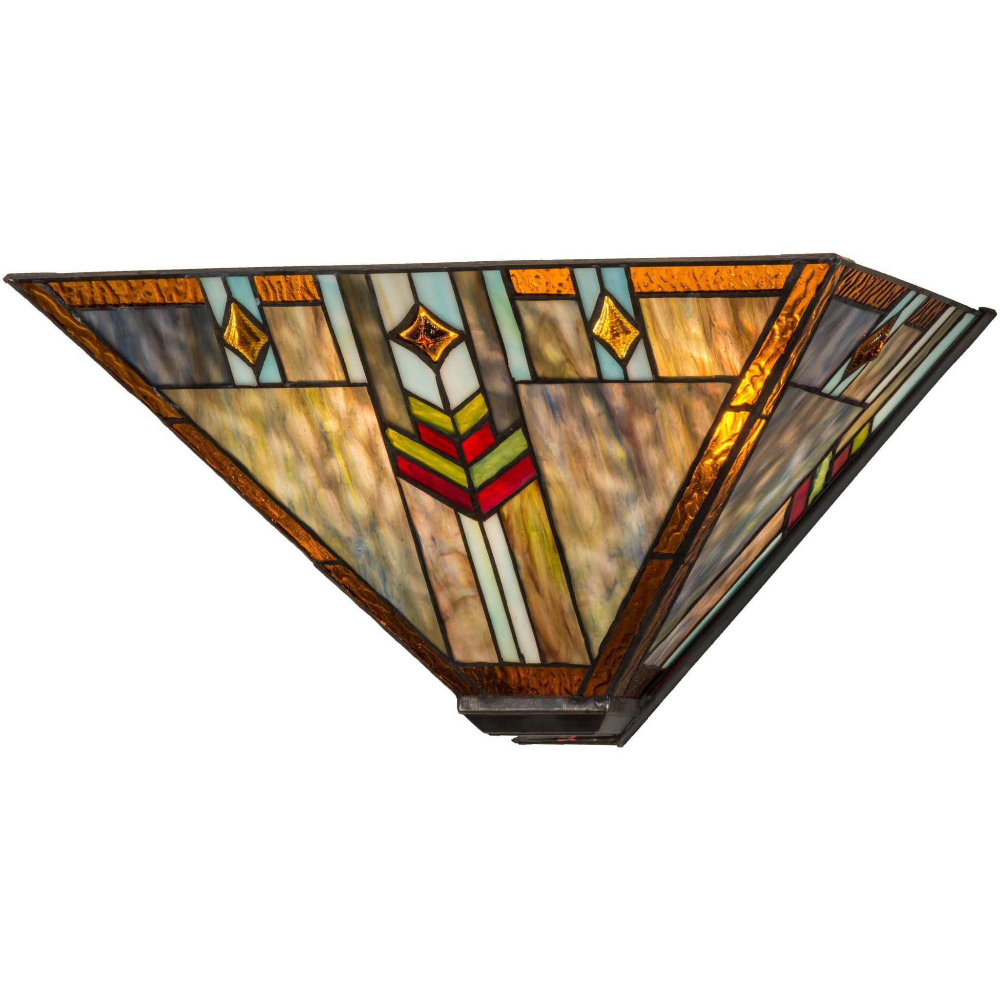sconce sconces stained austyn glass southwest led wall