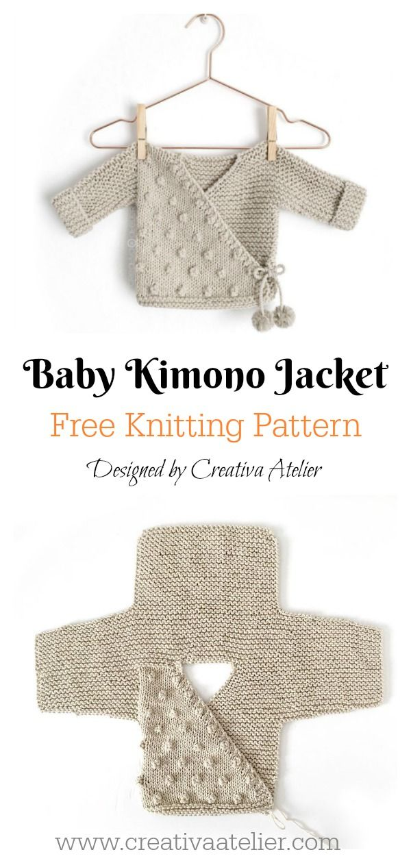 Kimono Sweater Free Knitting Pattern #strikkeopskriftsweater