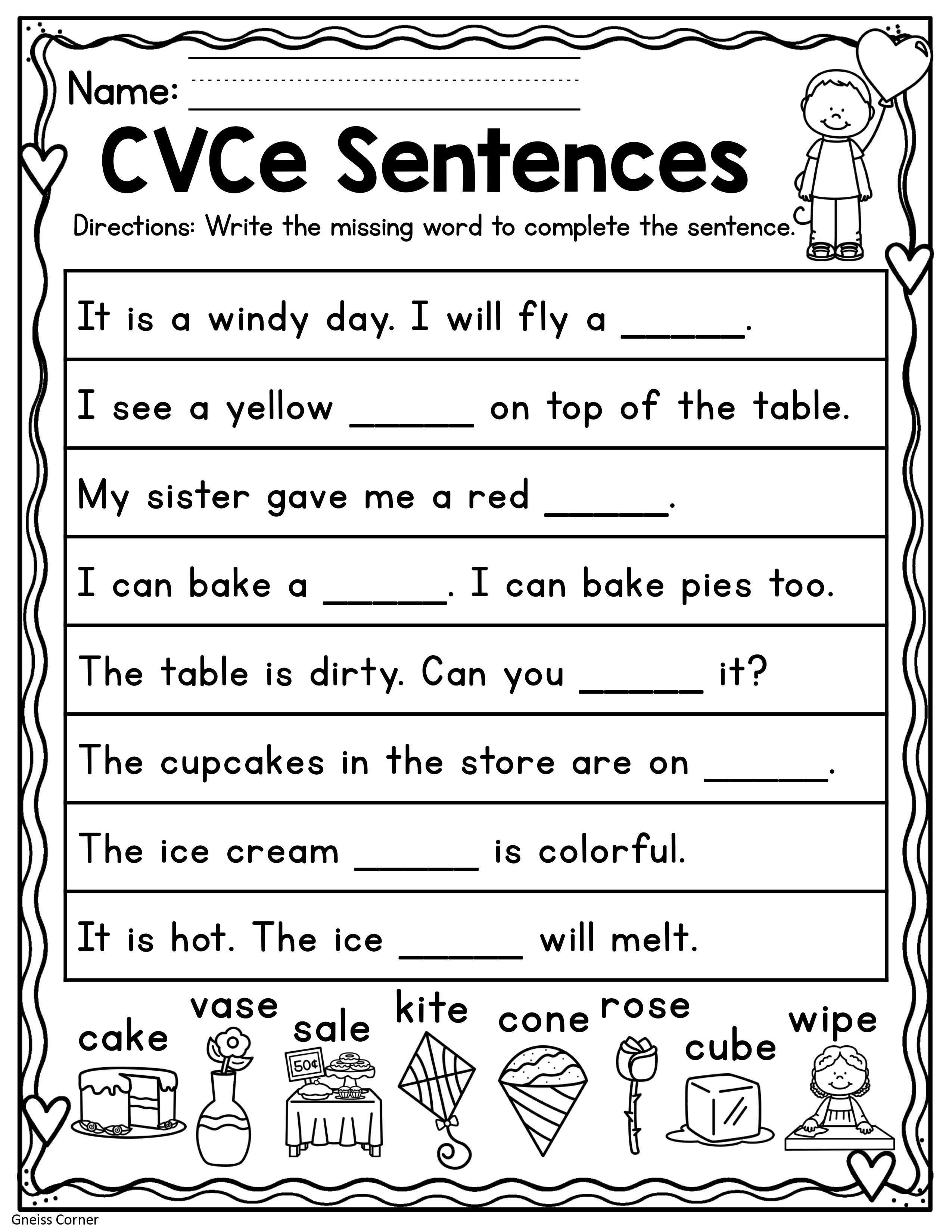 Valentine S Day Kindergarten Worksheets February In