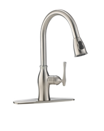 Cuisinart Lisa Brushed Nickel Pull Down Kitchen Faucet