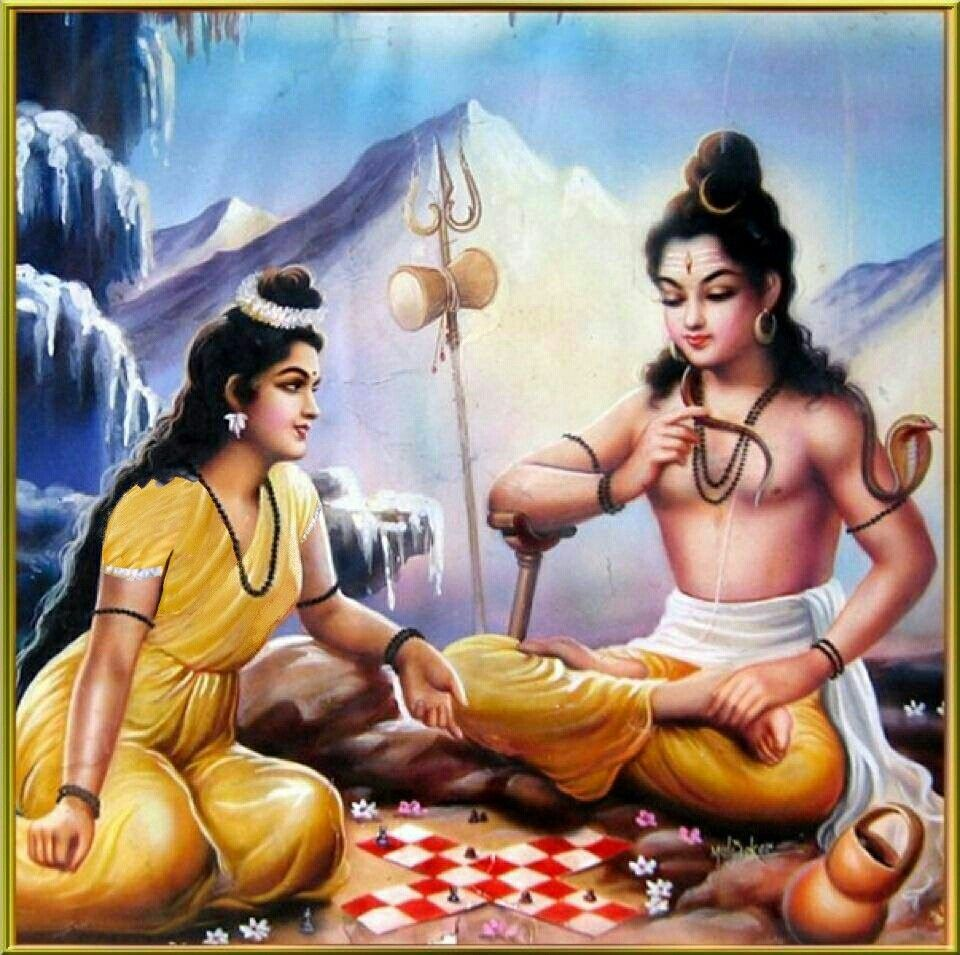 photo of lord shiva and parvati