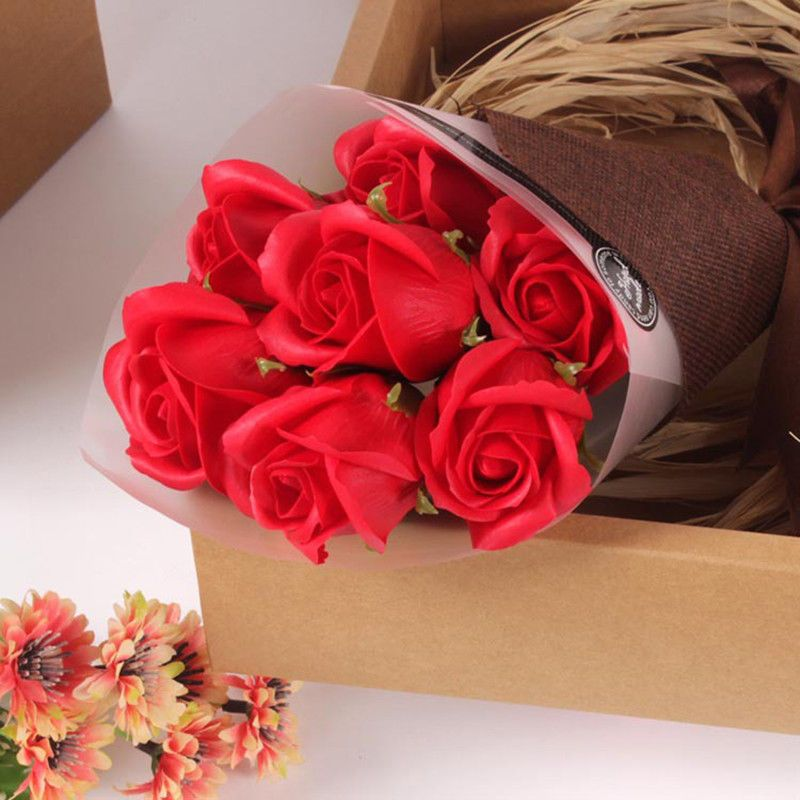 Romantic Rose Flower Bouquet Soap In A Box Special Love Valentines Gift 7pcs Red Unbranded Valentine Gifts Romantic Roses Rose Flower