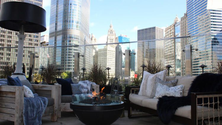 Heated Patios And Rooftops In Chicago Rooftop Bar Photo Tour Patio