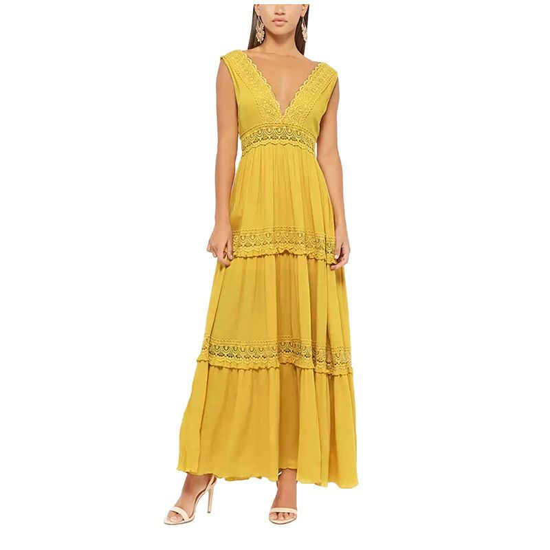 41889690cfb Crochet-Trim Maxi Dress, Forever 21, $40Wow your S.O. in this canary ...