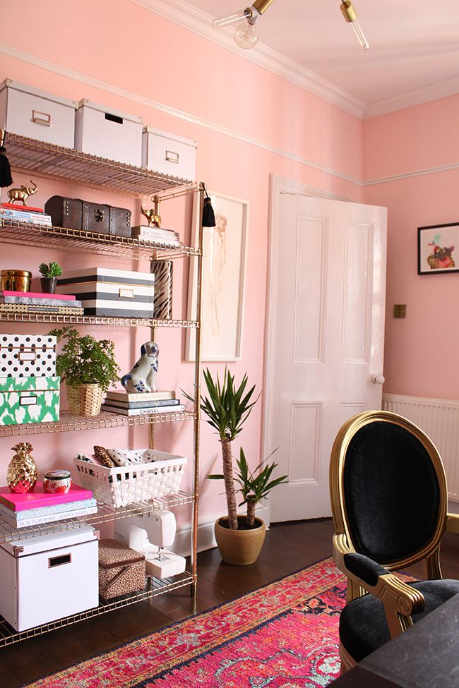spring 2015 one room challenge eclectic boho glam office on best office colors for productivity id=71622