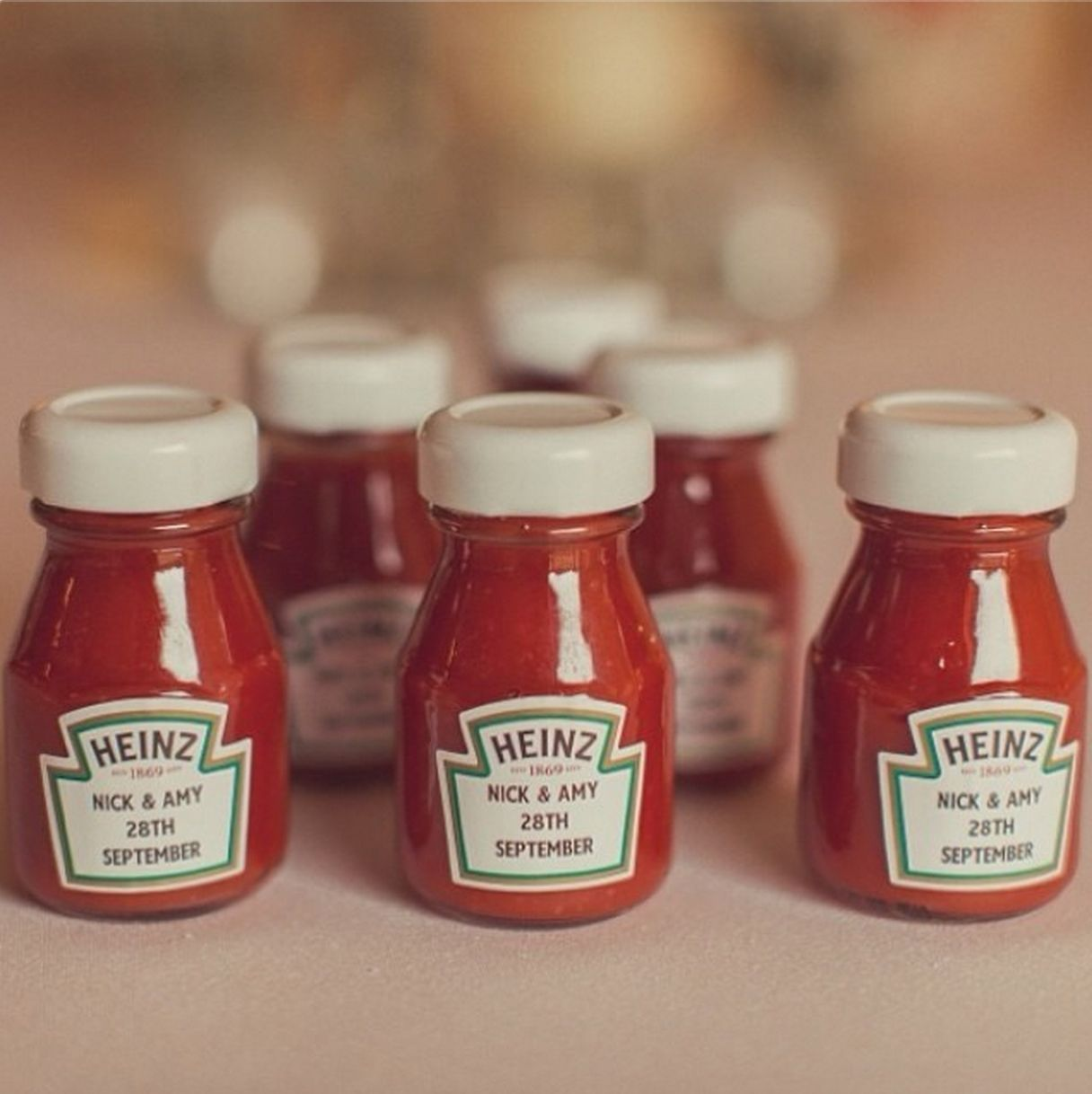 Lovable Unusual Wedding Ideas Ketchup Bottles Favours From Wider Sources