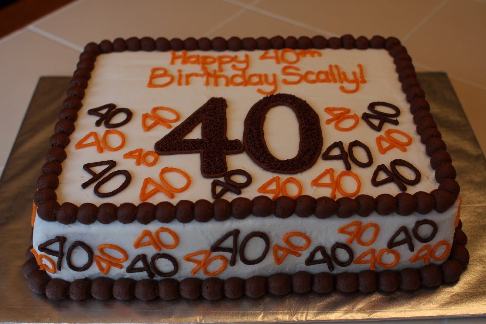 40th birthday cake ideas for men this will be ron 39 s birthday cake what do ya think uncle - Mens cake decorating ideas ...