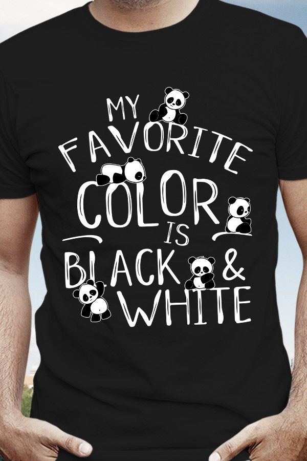 My Favorite Color Is Black & White Kawaii Panda Bear T-Shirt Giant Panda Fan Art SkizzenMonster #babypandabears