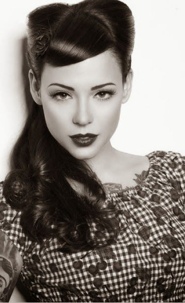 Pin On Long Hair Pompadour Hairstyle