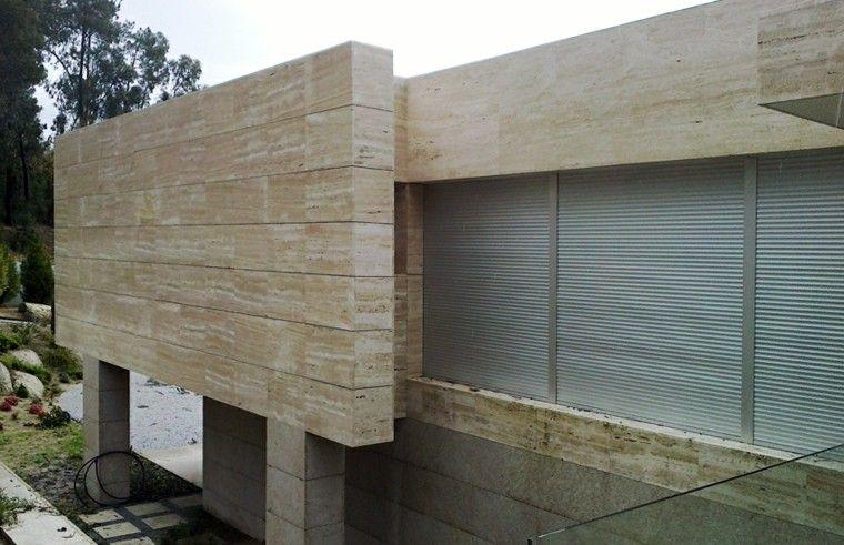 Revestimiento de paredes exteriores 50 ideas fachadas exteriores fachadas y revestimiento - Revestimiento de muros ...