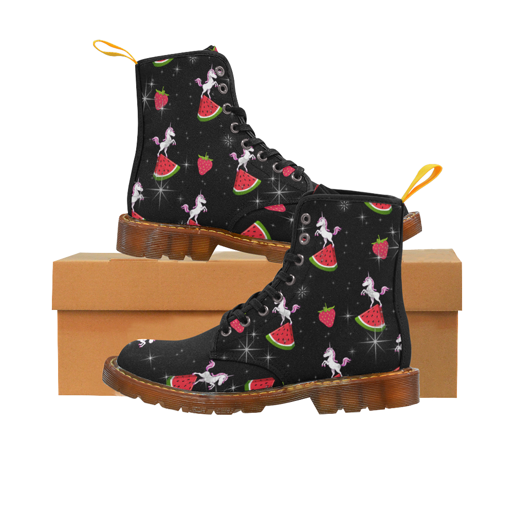 unicorns and watermelons Martin Boots For Women Model 1203H