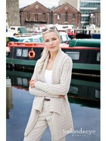 Glenross Waterfall Cardigan A661 | Irish Aran jumpers | Pinterest ...