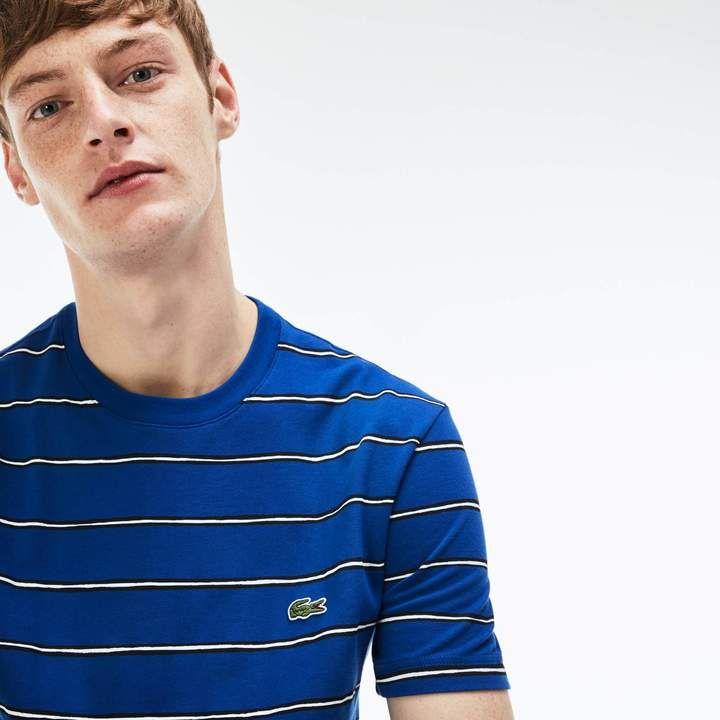 71da3d8745 Men's Striped Print Mini Piqué T-Shirt in 2019 | Products | Lacoste ...