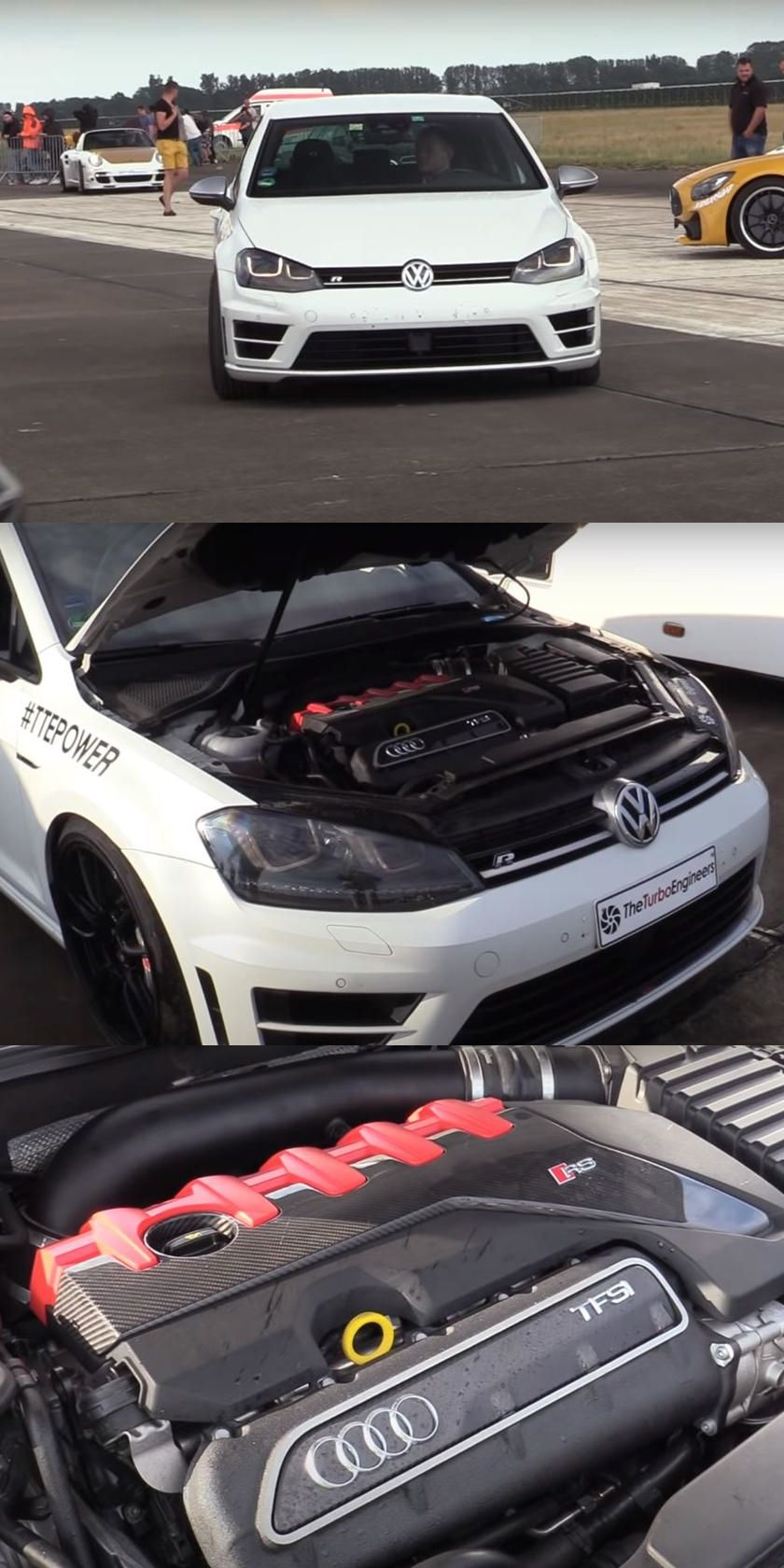 The Ultimate Vw Golf R Comes With Audi Rs3 Engine Swap Five Cylinders And A Custom Turbo Make For One Seriously Hot Hatch Audi Rs3 Vw Golf Audi
