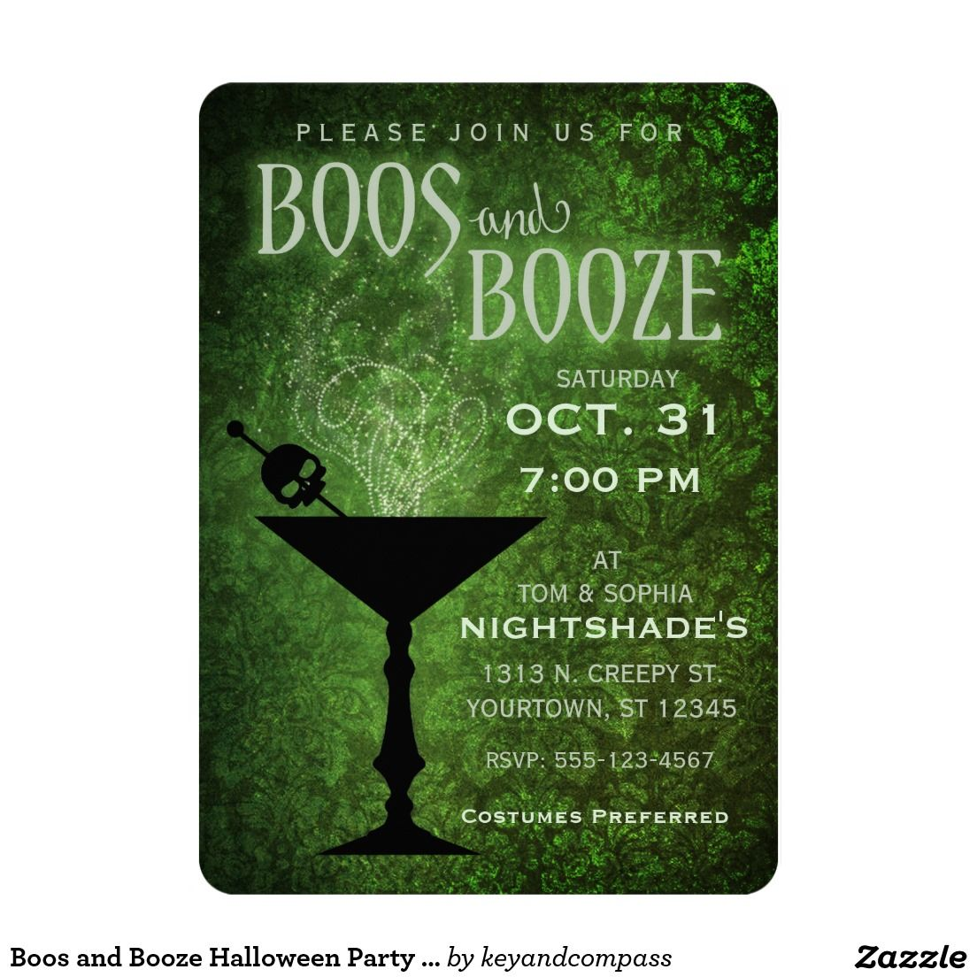 Boos and Booze Halloween Party Invitation   Halloween party ...