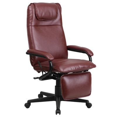 Offex High-Back Executive Chair Color: Burgundy