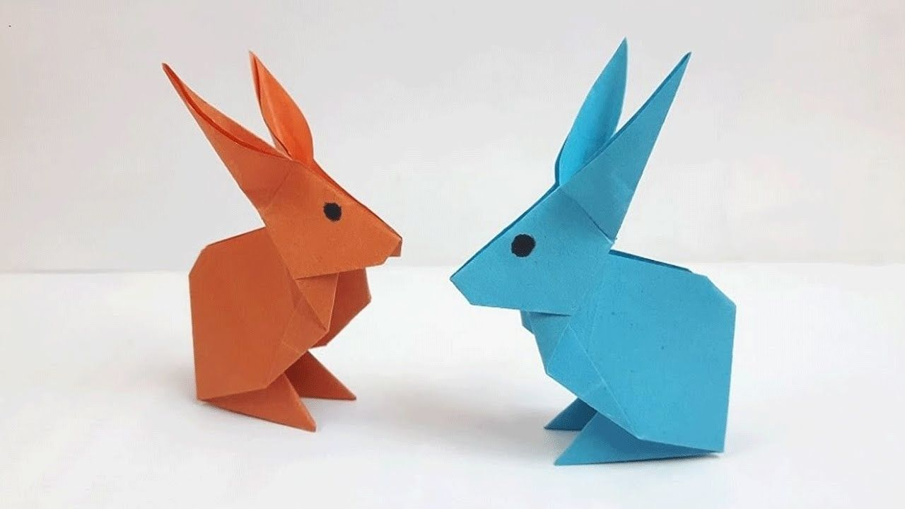 Easily create paper rabbit easy origami origami and rabbit easily create paper rabbit paper rabbit craft how to make a paper jeuxipadfo Image collections