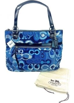 3dd9d6dd999 Coach Blue Signature Tote Bag $64 | Accessories | Coach tote bags ...