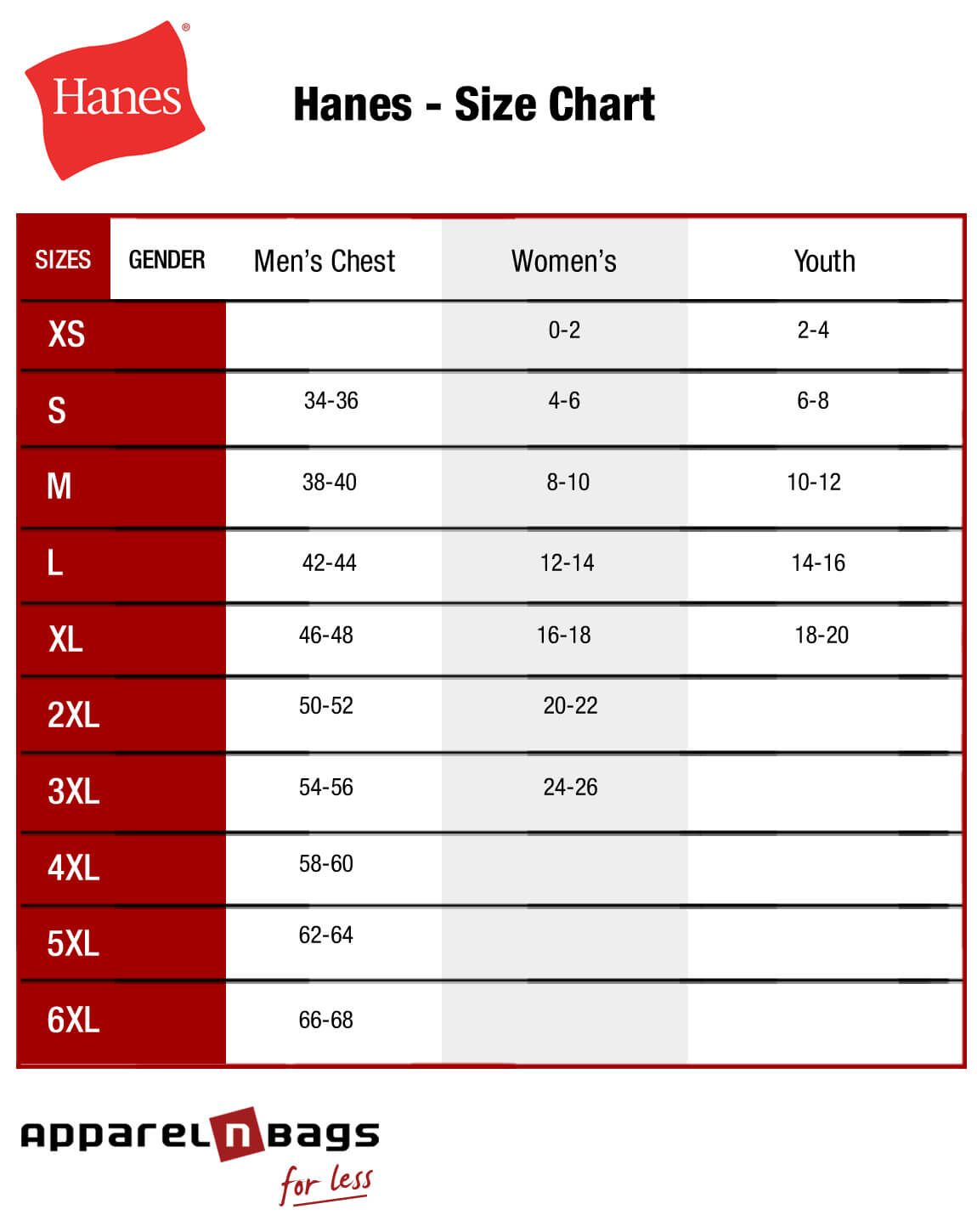 Image Result For Hanes Youth T Shirt Size Chart Silhouette Hanes