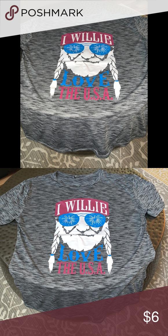 I Willie Love The USA T-Shirts Short-Sleeve Women