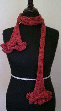 Ruffle Scarf2 Needle Knitting Pinterest Double Ruffle Scarf