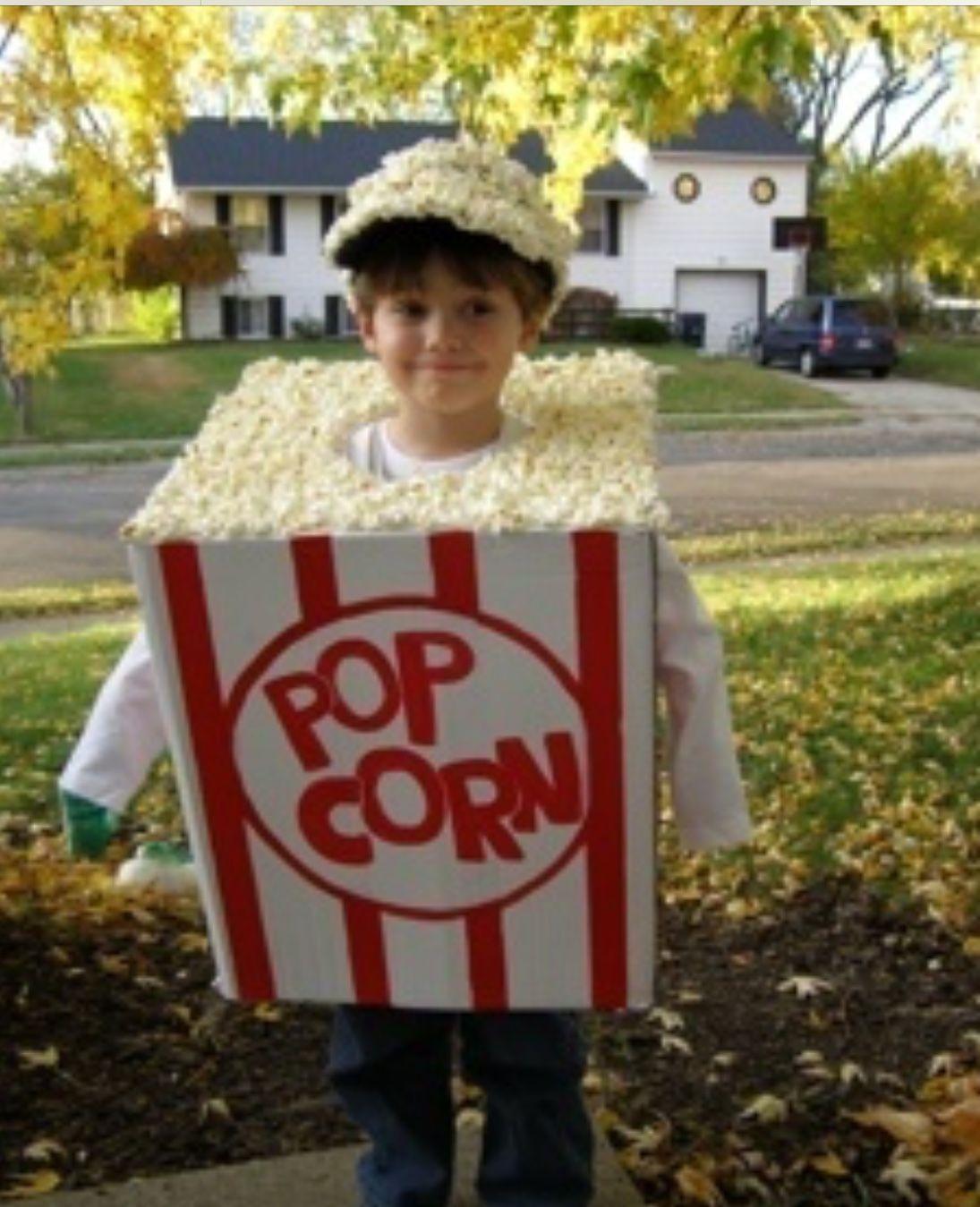 bd190cf86c9b Easy Halloween Costumes Kids, Homemade Halloween, Halloween Popcorn,  Halloween Clothes, Déguisement Popcorn