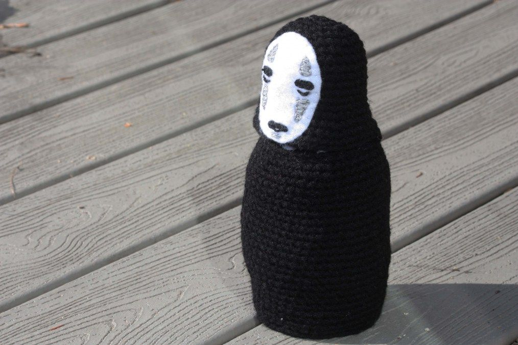 Amigurumi No-Face (Kaonashi) from Spirited Away