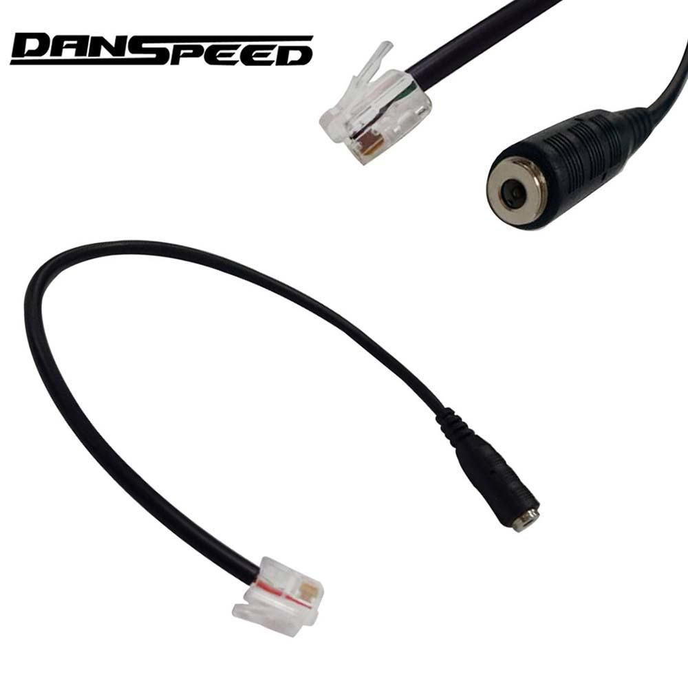 Danspeed Premium 3 5mm Female To 4p4c Rj9 Male Plug Headset Jack Phone Audio Adapter Cable Wire Audio Adapter Cable Wire Plugs