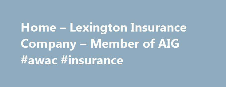 Aig Quote Glamorous Home  Lexington Insurance Company  Member Of Aig Awac