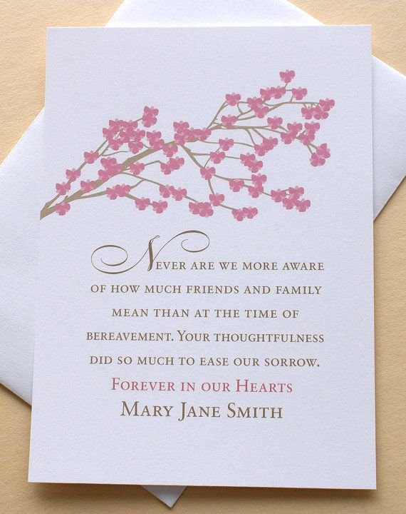 25 examples of funeral thank you messages funeral messages and funeral thank you sympathy card with rose colored blossoms set of 36 flat cards stopboris Images