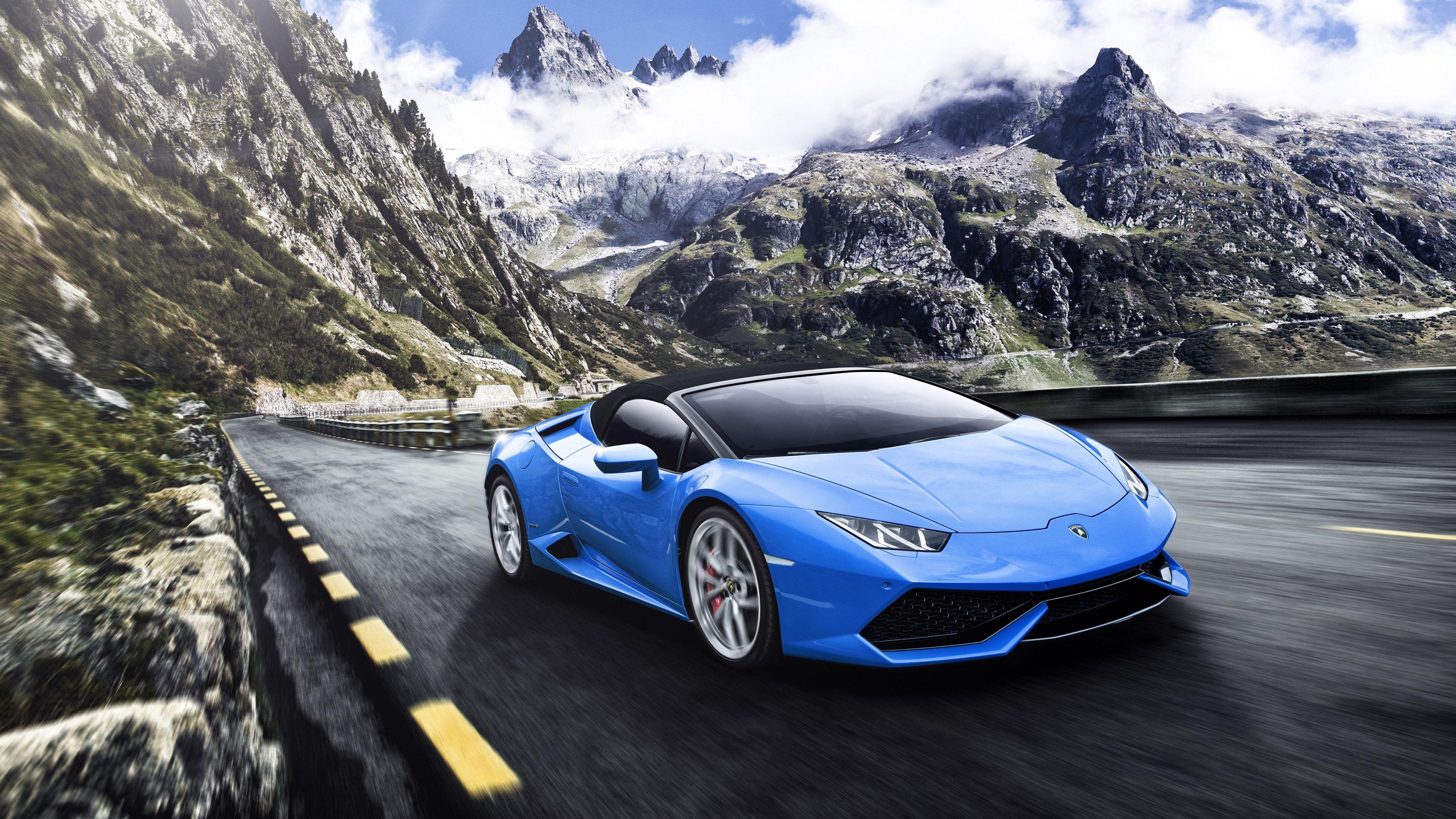 Wallpaper 4k Blue Lamborghini Huracan 4k 4k Wallpapers Cars