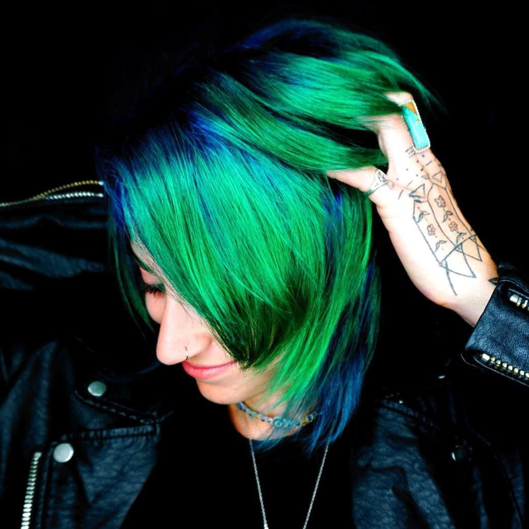 Contact to book appointment 0 Vivid hair color, Hair