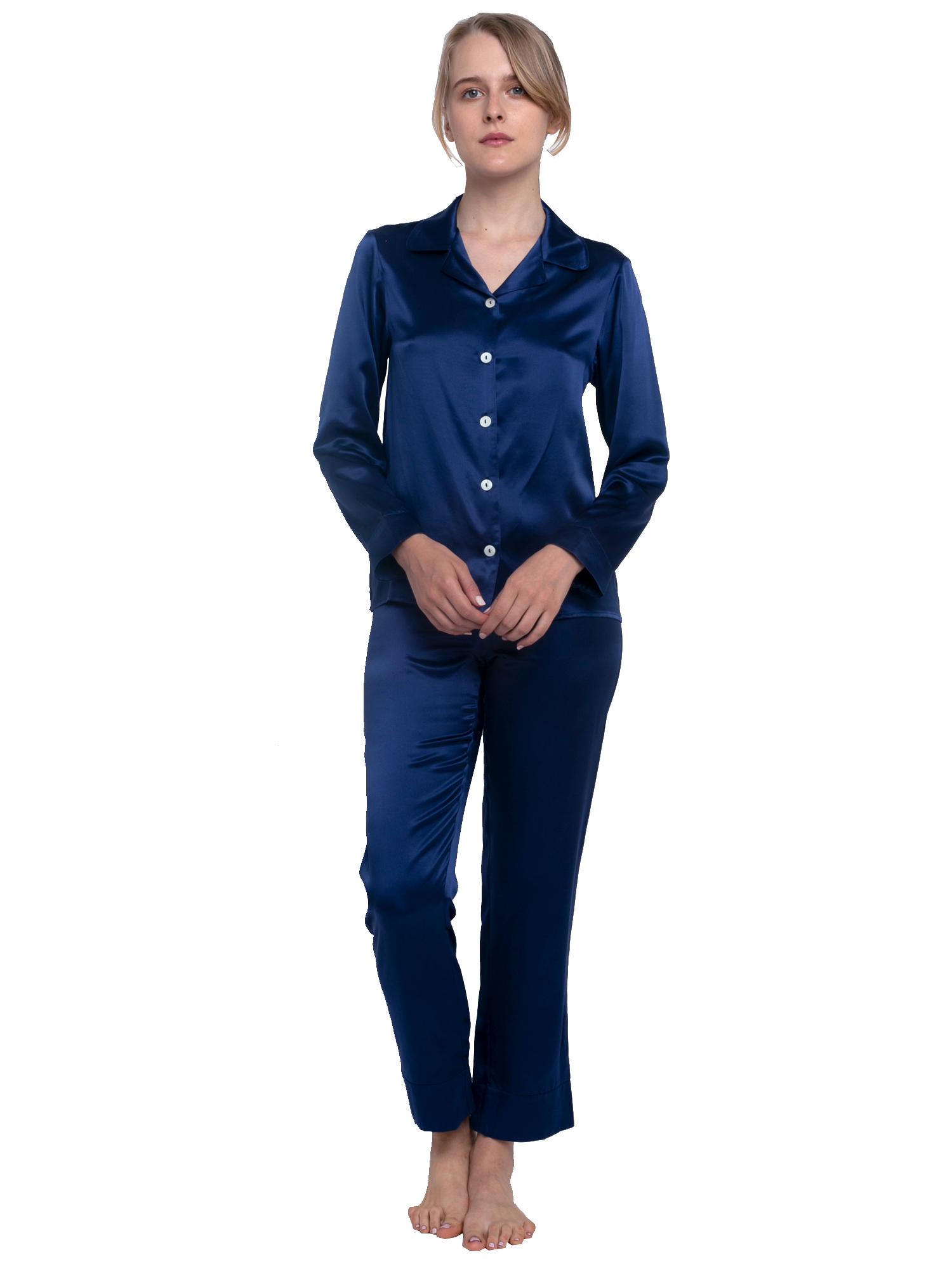 fc10727c93 Silk Long Pajama Set (22 Momme) v roce 2018